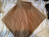 Sophisticated poncho style brown felt cardigan/jacket from Venice, size medium/one size