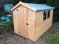 NEW 8x6 APEX GARDEN SHEDS £389.00 ANY SIZE (FREE DELIVERY AND INSTALLATION)