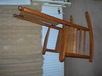 Rocking Chair for sale, sturdy wood /wicker