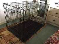 Brand new large dog crate, black