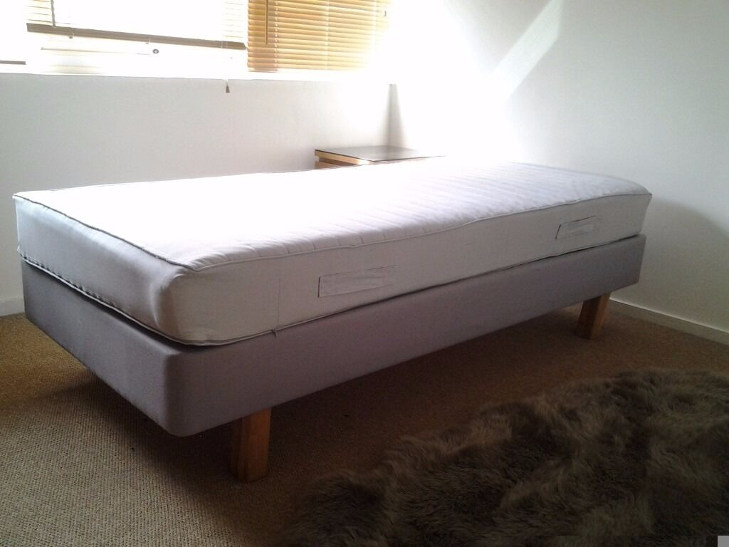 Ikea sultan single bed base with mattress in clifton bristol gumtree Bed with mattress
