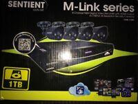 Sentient CCTV 8 Channel DVR 1TB 4 cameras