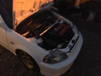 Honda Civic ek9 B16b engine swap