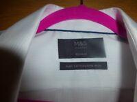 Mens hardly worn M&S formal shirt - size 17 collar