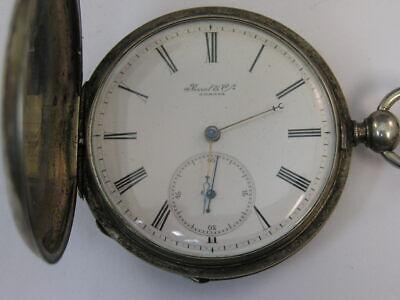 Vintage Swiss Pocket Watch Ferret & Fils 16 Size Key Wind & Set 52mm 1800's