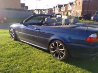 BMW 3 SERIES M SPORT CONVERTIBLE LONG MOT LOW MILES LEATHER INTERIOR (MAY PX P/X PART EXCHANGE WHY?)