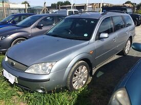 FORD MONDEO ESTATE 2.0TDI 2003yr. SUITABLE FOR EITHER REPAIR OR BREAKING FOR PARTS. SOLD AS SEEN