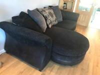 Large 3 seater sofa and swivel chair