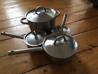Set of 4 Ikea Stainless Steel Pots and Saucepans Casserole Dish