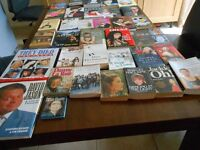 42 Hardback and Paperback Autobiography Books of famous people.