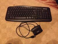 Microsoft wireless keyboard and usb transmitter