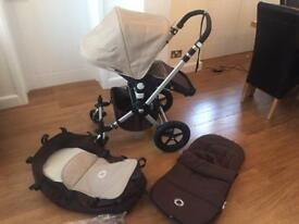 Bugaboo Cameleon Travel System Brown and Sand Used