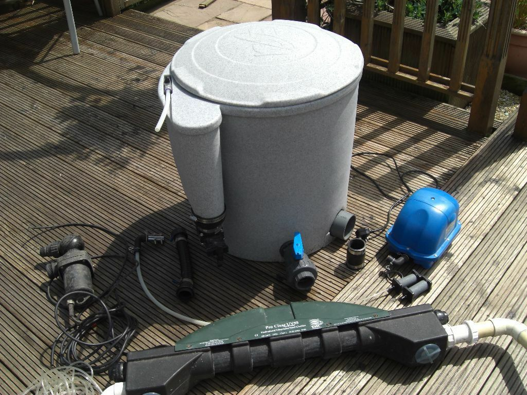Pond koi nexus easy pod set up in croesyceiliog for Koi pond setup
