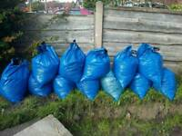 Free topsoil bagged