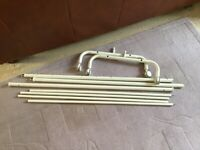 White Metal IKEA Clothing Rail - missing its bolts - FREE