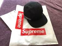 SUPREME Tonal Taping Camp Cap ( BLACK ) BRAND NEW