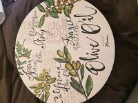 Large serving bowl, platter- excellent condition