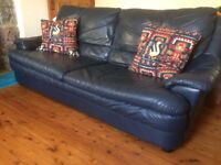 3 seater and 2 seater leather sofas - very good condition. Can sell separately. £80