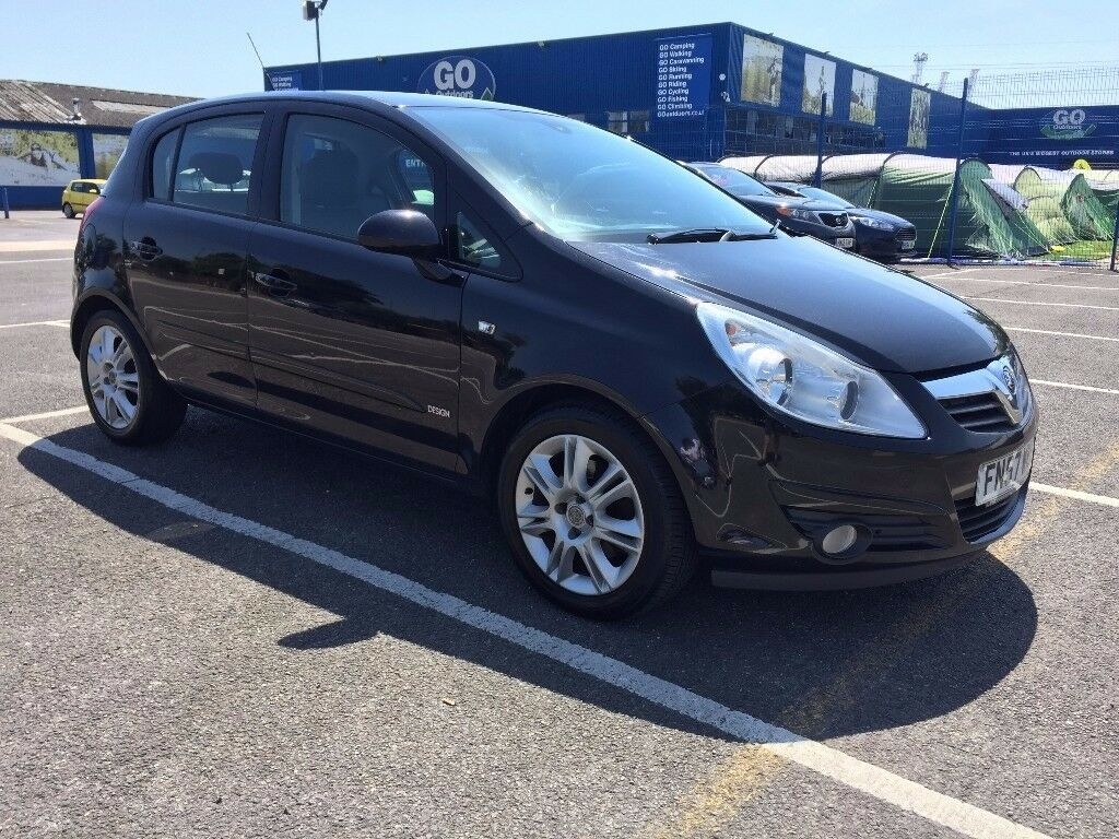 2007 Vauxhall Corsa 1.3 cdti Design 5 Dr Black LONG MOT