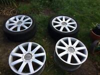 "Genuine Audi 18"" 9 spoke Alloy Wheels RS4"