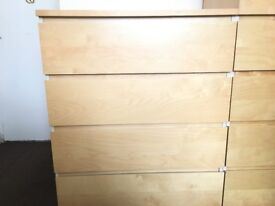 IKEA 4 CHEST DRAWER PINE WOOD EFFECT ONLY £30