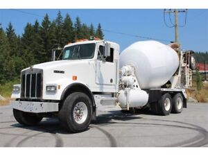 1994 Kenworth W900 Mixer Truck Cat 3306 9LL trans 10.5 Boosta...