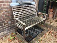 Wooden Garden Bench - 119cm wide x 92,5cm high x 63cm deep