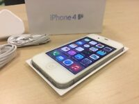 Boxed White Apple iPhone 4S 16GB Mobile Phone on Vodafone / Lebara / Talktalk Networks + Warranty