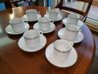 Royal Worcester classic platinum cups and saucers