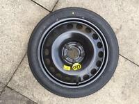New Space saver spare wheel 5x110 PCD Vauxhall Astra with jack