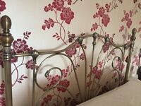 King Size Metal Headboard in Pewter colour.