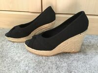 Gorgeous black and rope effect wedges. Brand new, size 7