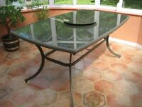 Rio Anodised Aluminium Garden/Conservatory Table in Immaculate Condition