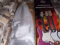 Professional Electric Guitar . with amplifier Guitar bag & belt, picks , plectrum tuner and
