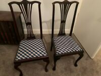 2 x Florentine Tapestry Bedroom or dining chairs
