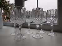 6 x CRISTAL de FRANCE - Nirvana - Quality French Lead Crystal - Wine Glasses 16cm in height
