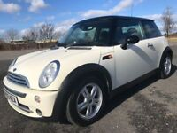 ,, 05 MINI COOPER IST CLASS CONDITION DIAMOND WHITE NOW ONLY £1999