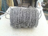 Roll of barbed wire.