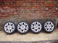 "FORD ECOSPORT 16"" ALLOY WHEELS FIESTA ETC, & 195/45/16 TYRES"