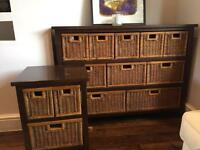 Chest of drawers and side table set