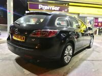 2009 MAZDA-6 BLACK 2.0 PETROL -TS2 ESTATE-AUTOMATIC,ONE OWNER,MOT 30-07-18 (NO ADVISORY), HPI CLEAR