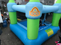 7 x 7 ft bouncy castle with inflator blower ideal for back garden