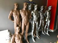 15 x Full Size Male Mannequins + 30 Just Bodies, All In Great Condition.