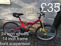 Kids or teens Mountain Bikes £30 - £75 mountain bike cycle commuter student mtb full working order