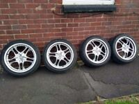 17 inch 5x100 alloy wheels and tyres trd wolfrace