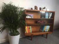 Small retro macintosh teak bookshelf