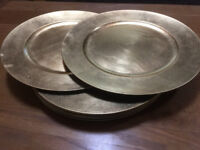 Pottery Barn Set Of 8 Gilt Dinner Plate Decorative Chargers