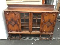 vintage solid oak sideboard