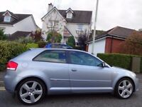 (2008) AUDI A3 2.0 TDi S LINE 3dr LOW MILEAGE, FSH+RECEIPTS, NAV, HEATED FRONT+REAR SEATS, HUGE SPEC