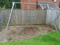 Tp Triple Swing Set - Metal Frame, Excellent